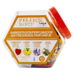 Ambientador de coche con cuatro aromas