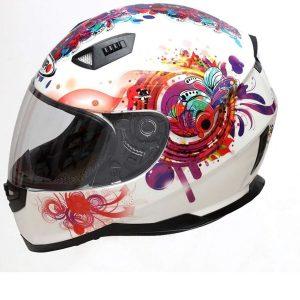 Casco de moto de mujer con diseño aerodinámico