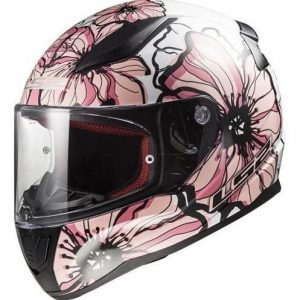 Casco de moto de mujer de flores