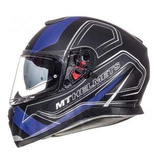 Casco de moto integral en azul mate