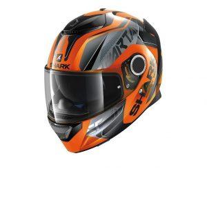 Casco de moto integral naranja