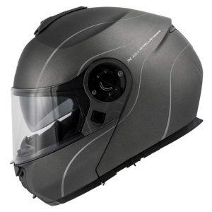 Casco de moto modular con interior lavable