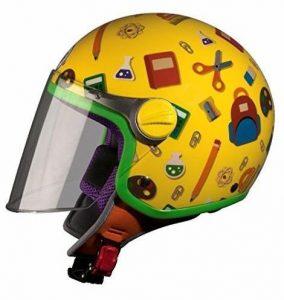 Casco de moto para niño con visera