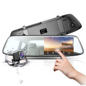 Espejo retrovisor con cámara y detector de movimiento