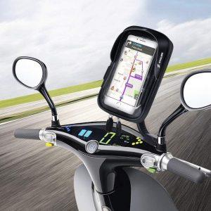 Soporte de móvil para motos con pantalla sensible