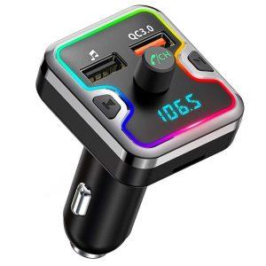 Transmisor fm para coche con pantalla LED